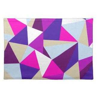 modelo azul rosado púrpura del triángulo salvamanteles