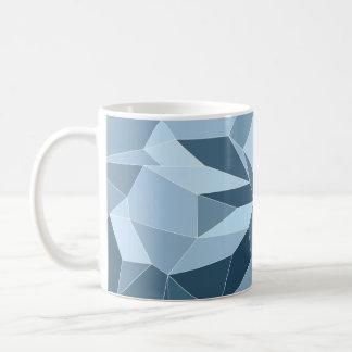 Modelo azul sombreado diamante de Giometric Taza De Café