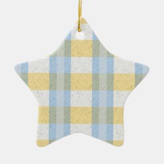 Modelo azul y amarillo en colores pastel de la tel adornos de navidad
