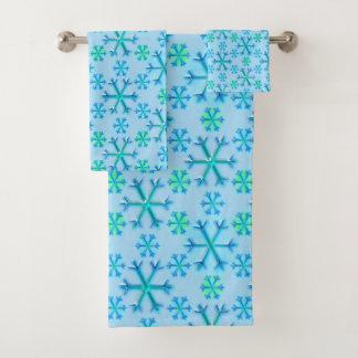Modelo azul y blanco del hexágono del copo de