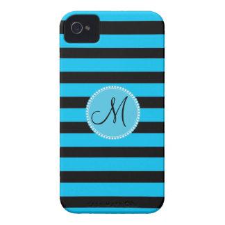 Modelo azul y blanco del trullo de encargo del iPhone 4 Case-Mate funda