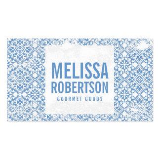 Modelo azul y blanco del vintage para la tarjetas de visita