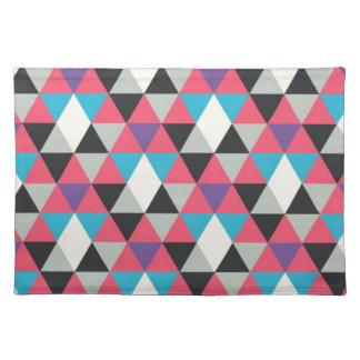 Modelo azul y blanco rosado del triángulo salvamanteles
