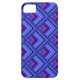 Modelo azul y púrpura de la escala de las rayas funda para iPhone SE/5/5s