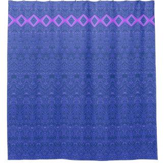 Modelo azul y púrpura del extracto del diamante cortina de baño