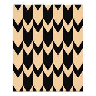 Modelo beige y negro de Chevron Folleto 11,4 X 14,2 Cm