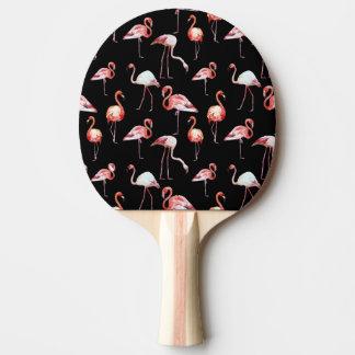 Modelo bir tropical del negro del flamenco de la pala de ping pong