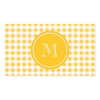 Modelo blanco amarillo de la guinga, su monograma tarjetas de visita