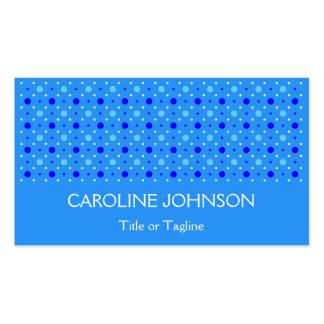 Modelo blanco azul elegante del punto del lunar tarjetas de visita
