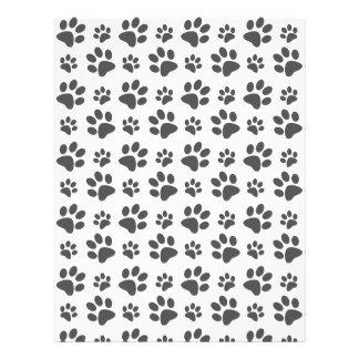 Modelo blanco de la impresión de la pata del perro tarjetas informativas