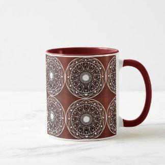 Modelo blanco de la mandala del clarete taza