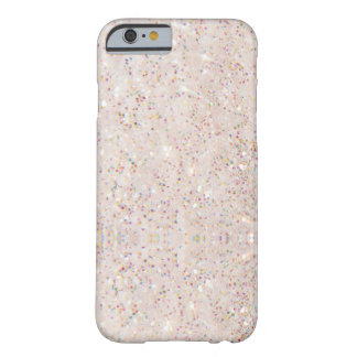 Modelo blanco de la textura del brillo de la funda barely there iPhone 6