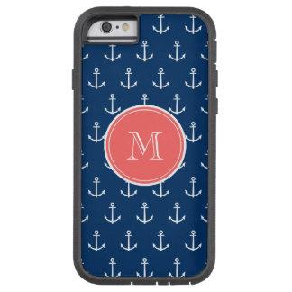 Modelo blanco de las anclas de los azules marinos, funda para  iPhone 6 tough xtreme