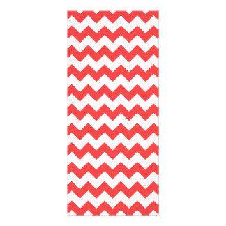 Modelo blanco rojo coralino de Chevron Lonas Publicitarias