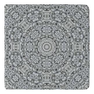 Modelo blanco Trivets   de piedra de encargo de la Salvamanteles
