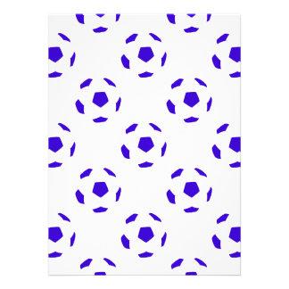 Modelo blanco y azul del balón de fútbol comunicados personalizados