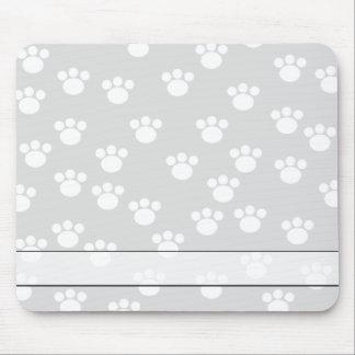 Modelo blanco y gris claro de la impresión de la p alfombrilla de ratón
