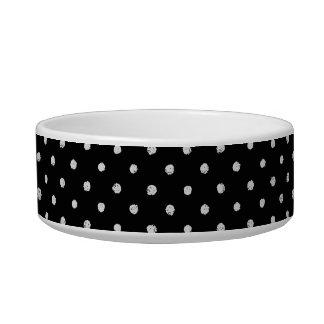 Modelo blanco y negro clásico del punto de la tiza comedero para mascota