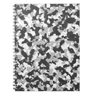 Modelo blanco y negro de Camo Cuaderno