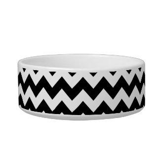 Modelo blanco y negro de Chevron Comedero Para Mascota