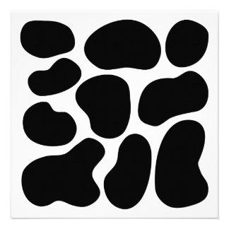 Modelo blanco y negro de la impresión de la vaca anuncios personalizados