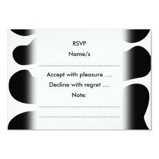 Modelo blanco y negro de la impresión de la vaca invitación 8,9 x 12,7 cm