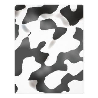 Modelo blanco y negro de la vaca del país folleto 21,6 x 28 cm