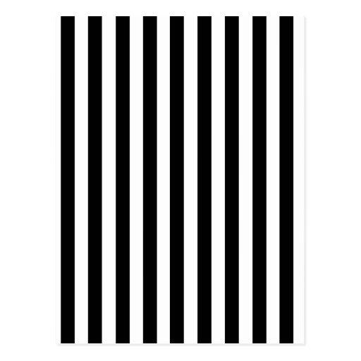 Modelo blanco y negro de las rayas de la mod postal zazzle for Papel pintado blanco y negro