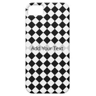 Modelo blanco y negro del diamante de Shirley Funda Para iPhone SE/5/5s
