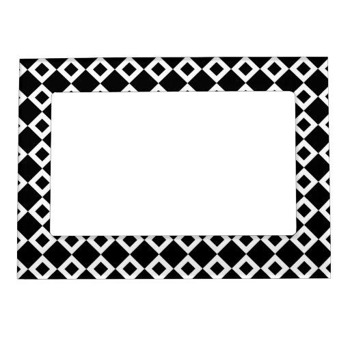 Modelo blanco y negro del diamante marcos magneticos