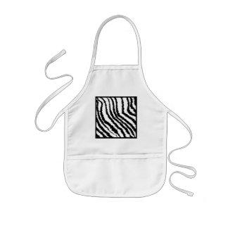 Modelo blanco y negro del estampado de zebra delantal