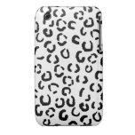 Modelo blanco y negro del estampado leopardo iPhone 3 Case-Mate protectores