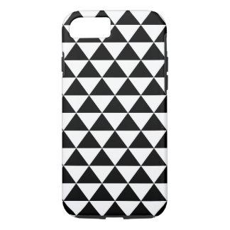 Modelo blanco y negro del triángulo funda iPhone 7