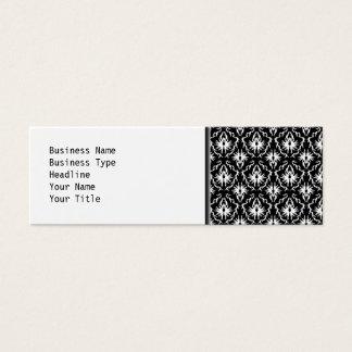 Modelo blanco y negro elegante del damasco tarjeta de visita pequeña