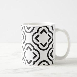 Modelo blanco y negro taza de café