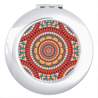 Modelo bohemio étnico geométrico del color rojo de espejo para el bolso