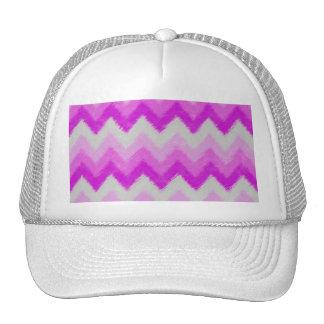 Modelo bohemio púrpura y blanco femenino de gorros bordados