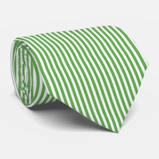 Modelo bonito de la raya de la cabaña del verde de corbatas personalizadas