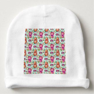 Modelo bonito del papel pintado floral gorrito para bebe