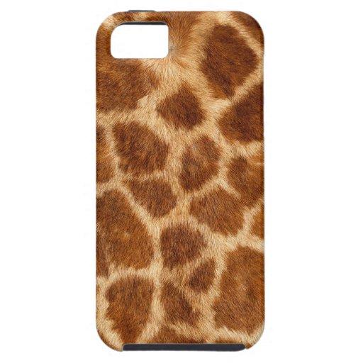 Modelo borroso de la piel de la jirafa iPhone 5 carcasa