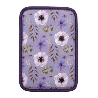 Modelo botánico floral púrpura dibujado romántico funda para iPad mini