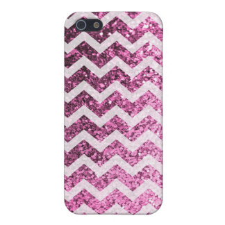 Modelo brillante de Bling Chevron del brillo iPhone 5 Protectores