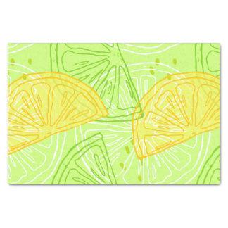 Modelo brillante de los limones de la fruta papel de seda