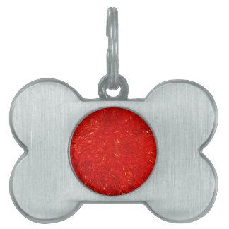 Modelo brillante elegante festivo del color rojo placa para mascotas