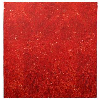 Modelo brillante elegante festivo del color rojo servilleta de tela