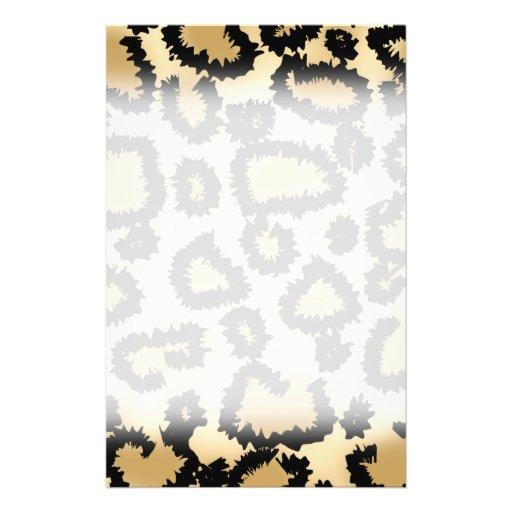 Modelo, Brown y negro del estampado leopardo Tarjetones
