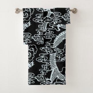 Modelo chino negro gris del dragón