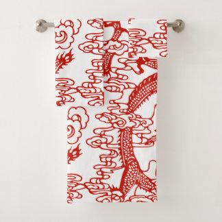 Modelo chino rojo del dragón