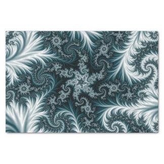 Modelo ciánico y blanco del fractal papel de seda