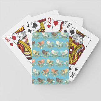 Modelo clasificado de los pájaros barajas de cartas